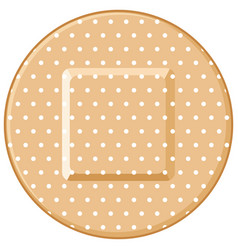 Round adhesive bandage vector