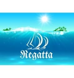 Sailing sport and regatta symbol vector