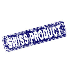 Scratched swiss product framed rounded rectangle vector