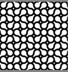 seamless geometric pattern - modern black and vector image