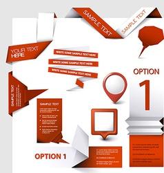 Set of web elements vector