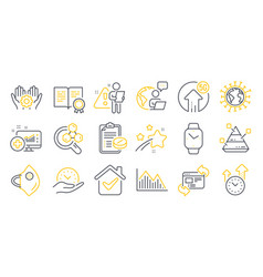 Set science icons such as chemistry lab vector