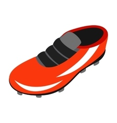 Sport shoe with cleats isometric 3d icon vector