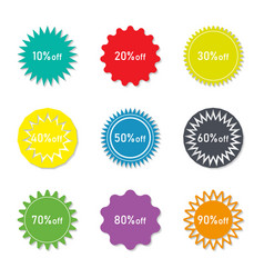 Sticker sale and discount label for price vector