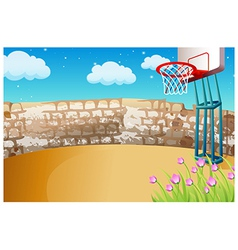 Street Basketball Background vector