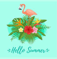 summer design for season postcard vector image