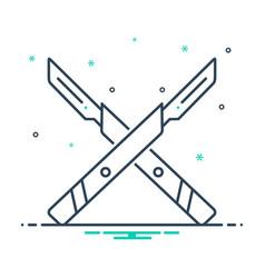 Surgery knife vector