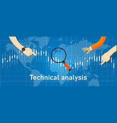 technical analysis investment stock trading based vector image