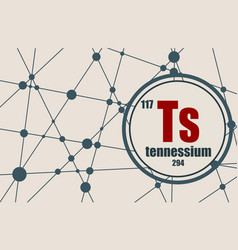 tennessium chemical element vector image