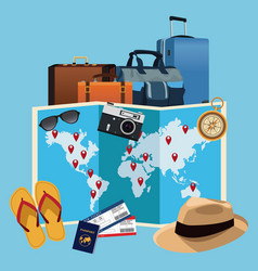 Time to travel concept vector