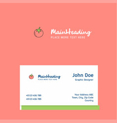 tomato logo design with business card template vector image