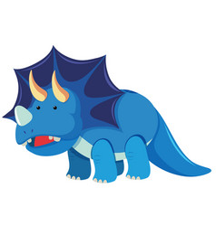triceratops with three horns vector image
