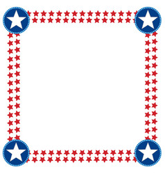 Usa flag decoration frame template vector