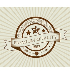 Vintage retro design vector image