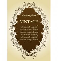 vintage vignette frame vector image