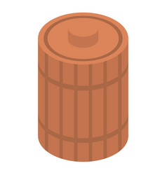 wood honey barrel icon isometric style vector image