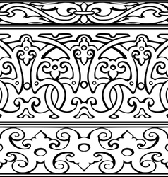 1 Set of decorative borders vintage style vector image vector image
