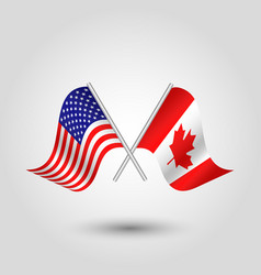 icon united states of america and canada vector image