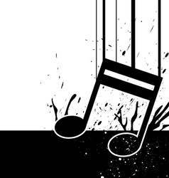 music note fall down vector image vector image