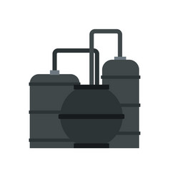 oil refinery icon flat style vector image