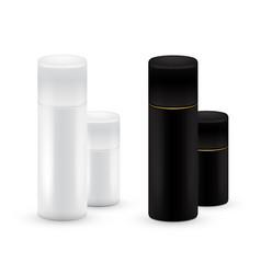 black and white bottles of aerosol spray metal vector image vector image