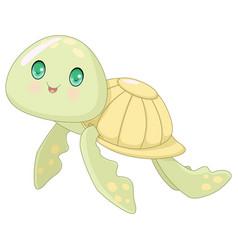 cute turtle vector image vector image