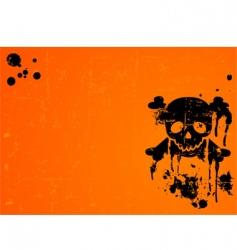 Halloween skull background vector image vector image