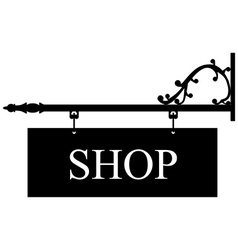 Old shop sign vector image vector image