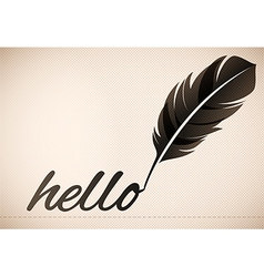 Quill Pen Text Background vector image