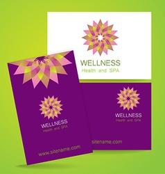 wellness logo vector image