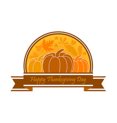 happy thanksgiving day celebration banner vector image vector image