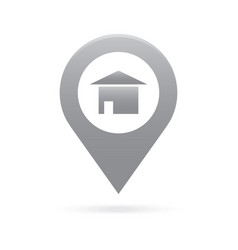home house map pointer icon marker gps location vector image vector image