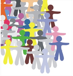 Human group vector image