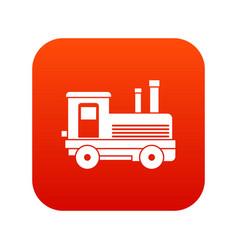 locomotive icon digital red vector image