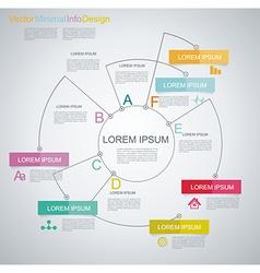 Minimal Timeline Infographic design vector image vector image
