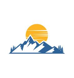 mountain landscape logo image vector image vector image