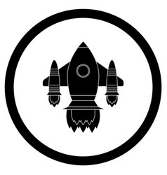 space shuttle black icon vector image