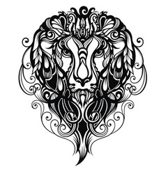 tattoo lion vector image