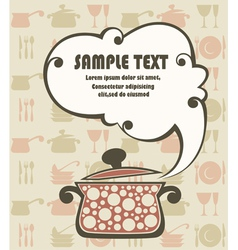 cook book funny background vector image vector image