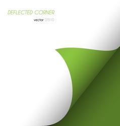 deflected corner vector image vector image