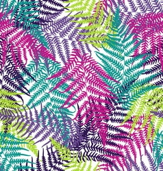 Fern frond seamless pattern vector image vector image