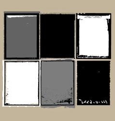 grunge film elements vector image