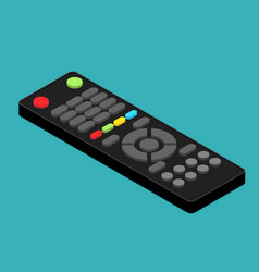isometric black remote tv control flat vector image