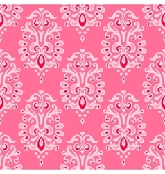 Luxury damask seamless pattern vector image vector image