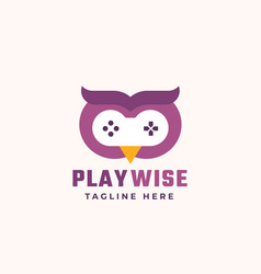play wise abstract sign symbol or logo vector image
