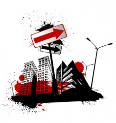 urban city vector image