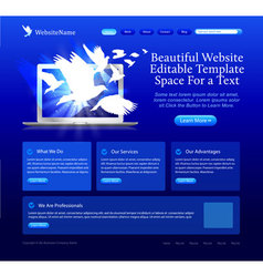 website template vector image vector image