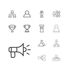 13 leadership icons vector