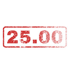 2500 rubber stamp vector image
