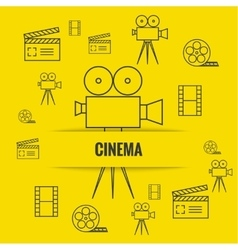 Abstract background with cinema vector image